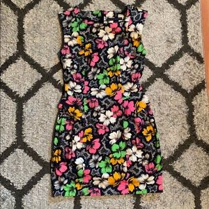 French Connection Neon Flowers Dress